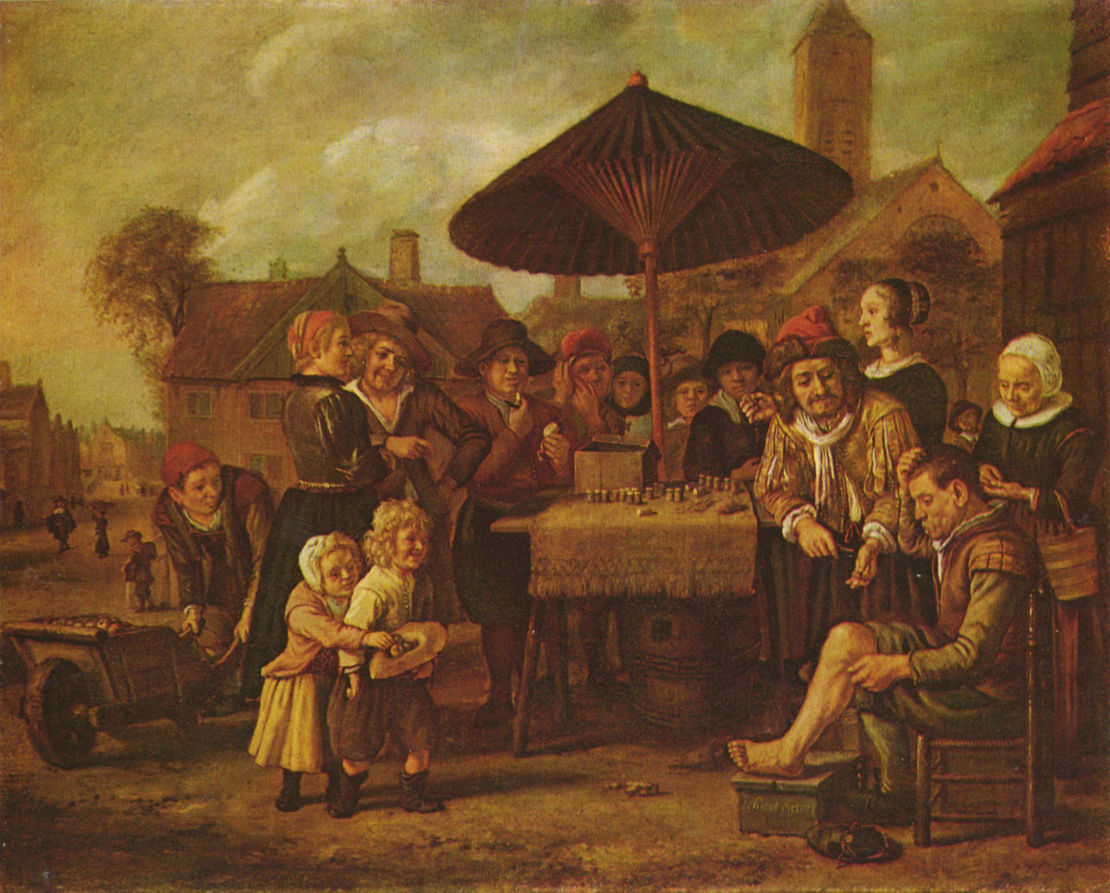 Jan Victors - Quacksalber auf dem Markt
