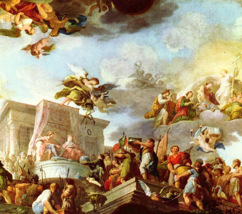 Christoph Kolumbus präsentiert den katholischen Majestäten die Neue Welt