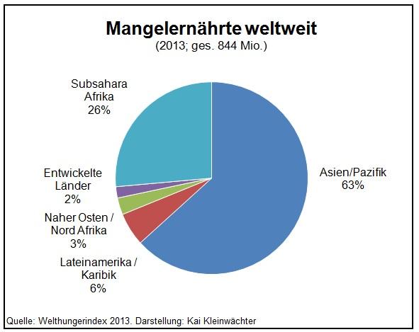 Mangelernährte und Hungernde weltweit 2013