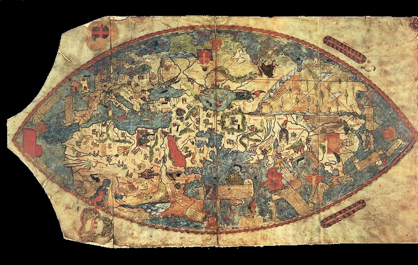 Weltkarte Genua von 1457