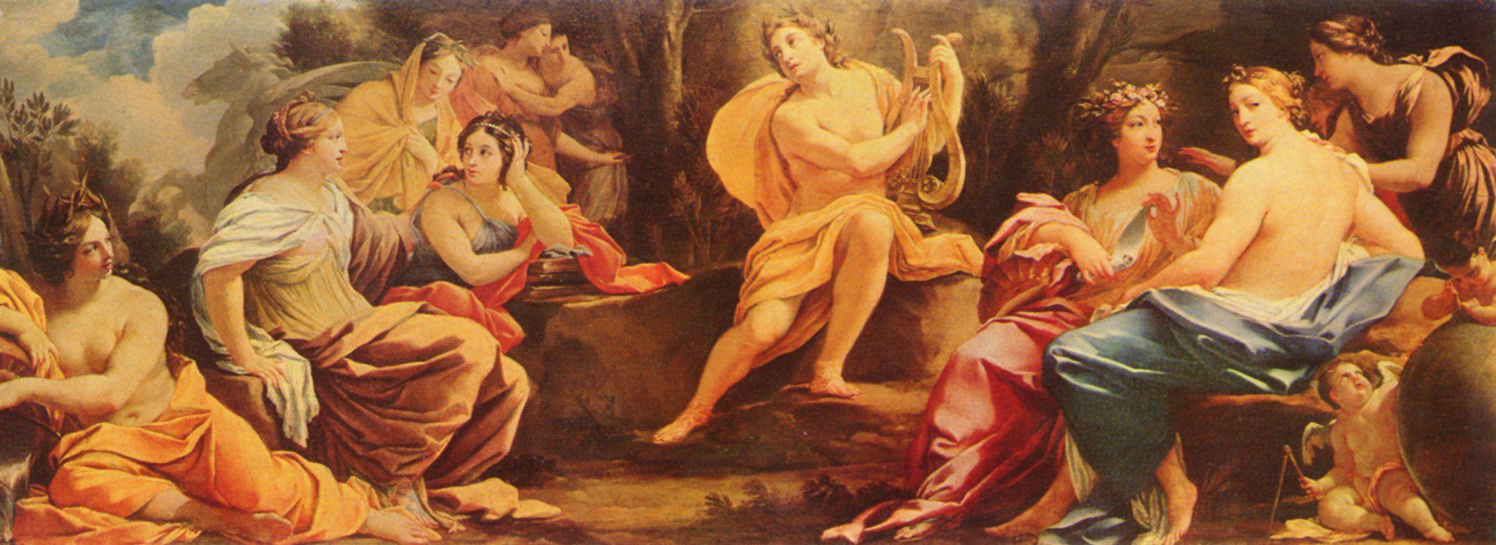 Simon Vouet (1590 - 1649) - Appollo und die Musen