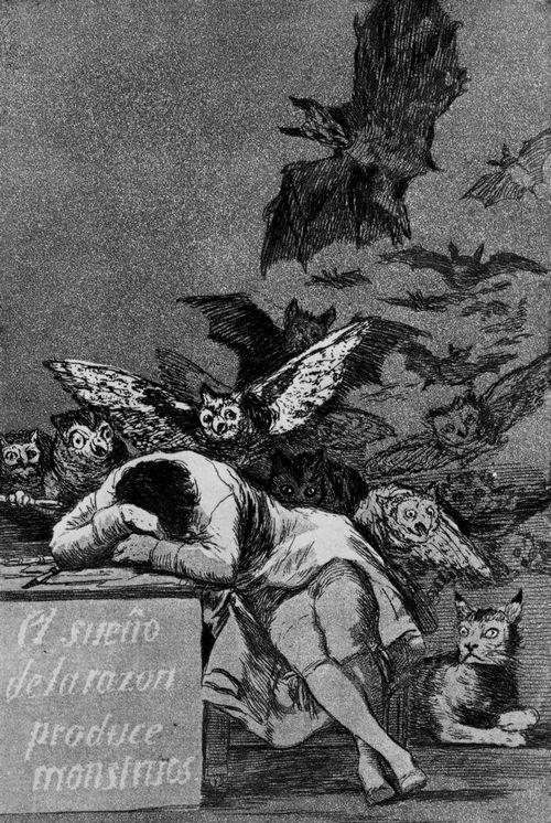 Francisco José de Goya y Lucientes (1746-1828) – Der Traum der Vernunft gebiert Ungeheuer