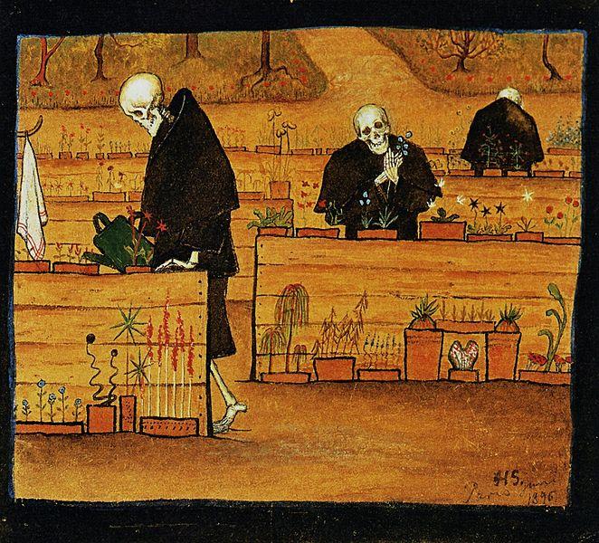 Hugo Simberg (1873-1917) - Kuoleman puutarha (Im Garten des Todes)