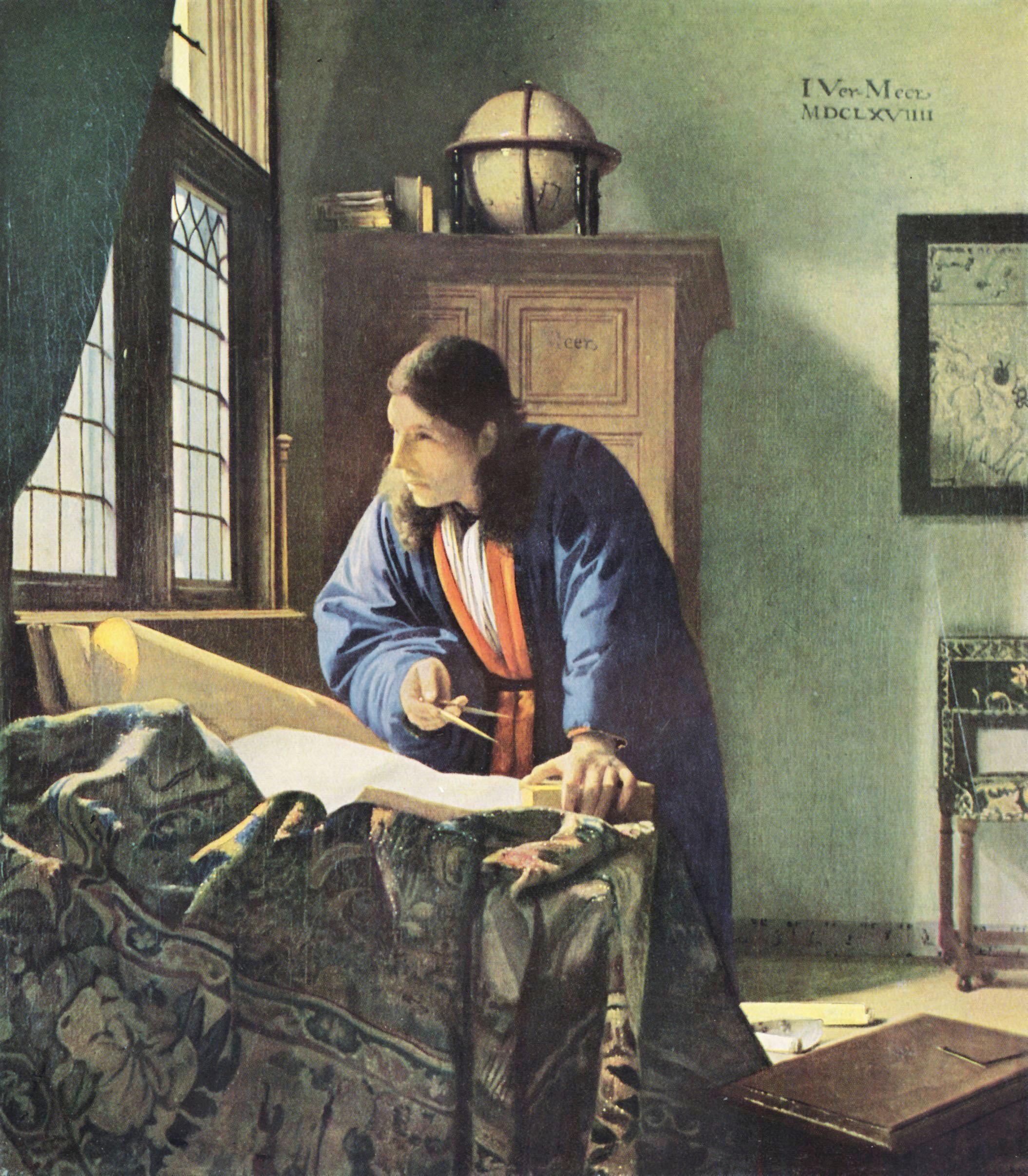 Jan Vermeer (1632 - 1675) - Der Geograph