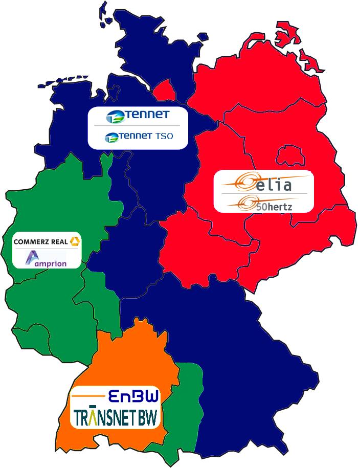 Übertragungsnetzbetreiber Deutschland seit 2010