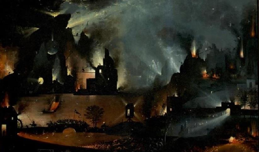 Krieg: Brennende Städte und Mordende Soldateska (Ausschnitt – Der Garten der Lüste)