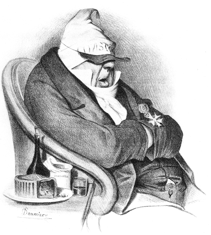 Honoré Daumier Personifikation der reaktionären Zeitung