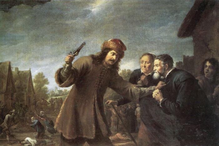 Teniers d. J., David: Soldaten plündern ein Dorf (Des Bauern Leid)