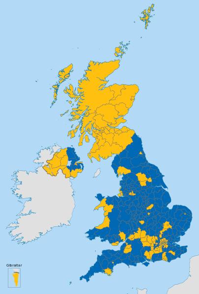 Karte Referendum Brexit 2016