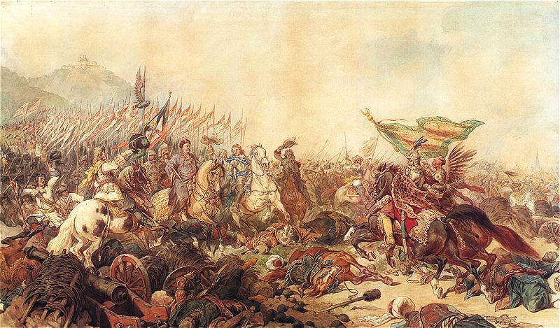 Juliusz Kossak - König Johan III. Sobieski vor Wien